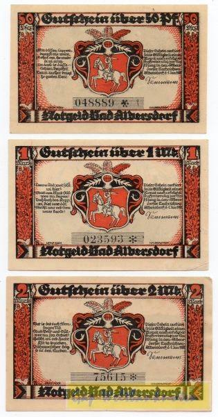 1.1.21, 50, Pf, 1, 2 Mk, KN 4,2 mm - (Sie sehen ein Musterbild, nicht die angebotene Banknote)