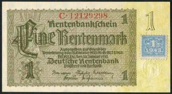 Marke auf 166c - (Sie sehen ein Musterbild, nicht die angebotene Banknote)