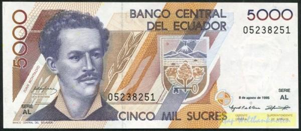8.8.95, AL - (Sie sehen ein Musterbild, nicht die angebotene Banknote)