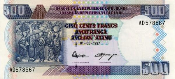 1.5.97 - (Sie sehen ein Musterbild, nicht die angebotene Banknote)