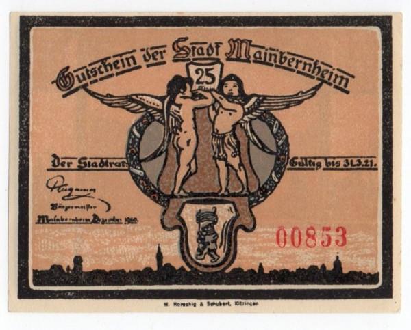"""Dez. 20, im Text """"Zuckermarken"""" - (Sie sehen ein Musterbild, nicht die angebotene Banknote)"""