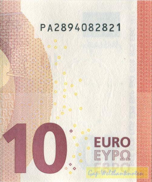 P002 - (Sie sehen ein Musterbild, nicht die angebotene Banknote)