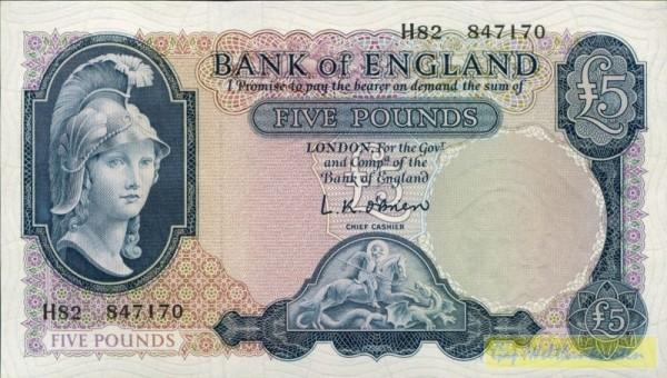 """Rs """"5 £"""" weiß - (Sie sehen ein Musterbild, nicht die angebotene Banknote)"""