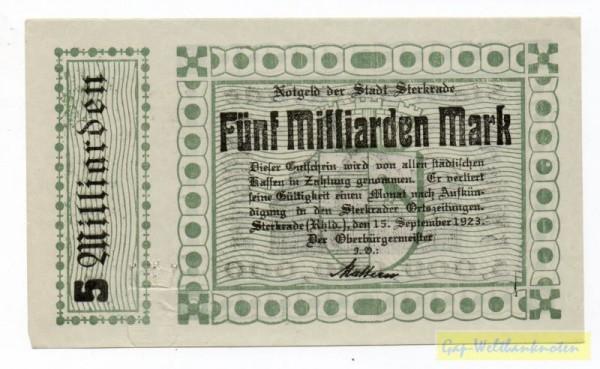 15.9.23, Pap grünlich, ohne KN - (Sie sehen ein Musterbild, nicht die angebotene Banknote)