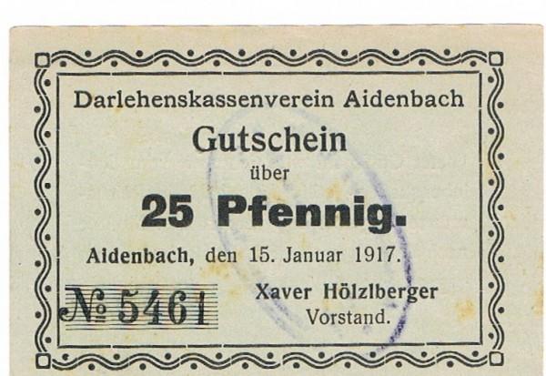15.1.17, Pap. blassgrün, Dieser am Zeilenanfang - (Sie sehen ein Musterbild, nicht die angebotene Banknote)
