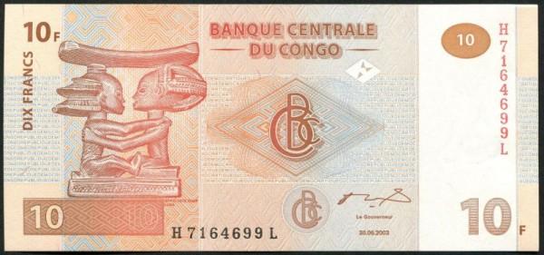 30.6.03, G&D, X KN X - (Sie sehen ein Musterbild, nicht die angebotene Banknote)