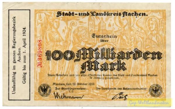 12.10.23, № KN 3,5 mm, o. Dfa., Rs. leer - (Sie sehen ein Musterbild, nicht die angebotene Banknote)