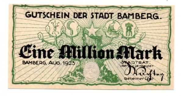 Aug. 23, ohne KN - (Sie sehen ein Musterbild, nicht die angebotene Banknote)