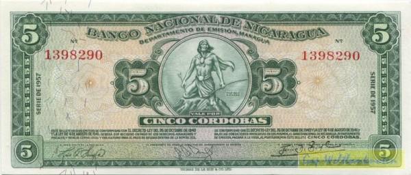 1957 - (Sie sehen ein Musterbild, nicht die angebotene Banknote)
