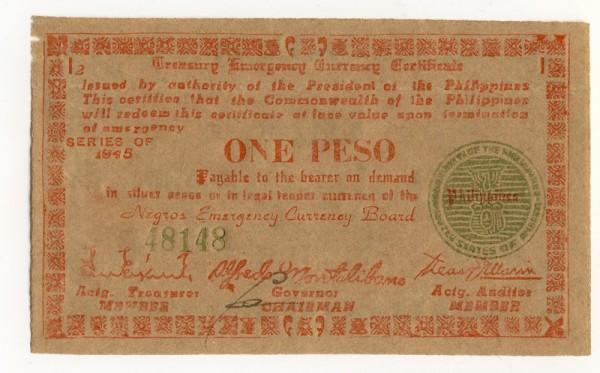 1945, I2 - (Sie sehen ein Musterbild, nicht die angebotene Banknote)