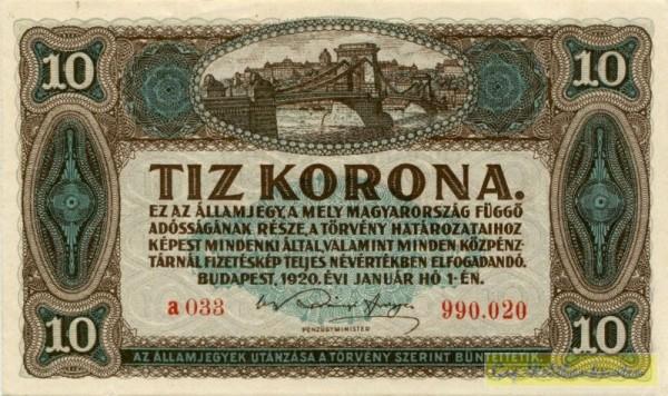 1.1.20 - (Sie sehen ein Musterbild, nicht die angebotene Banknote)
