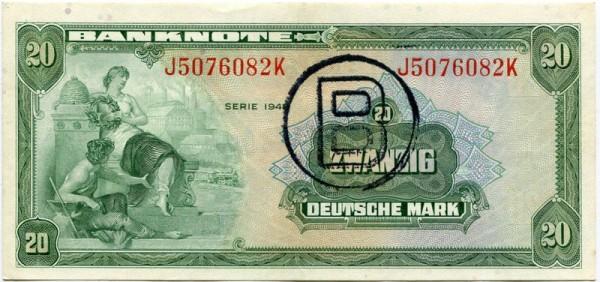 1948, B-Stpl. - (Sie sehen ein Musterbild, nicht die angebotene Banknote)