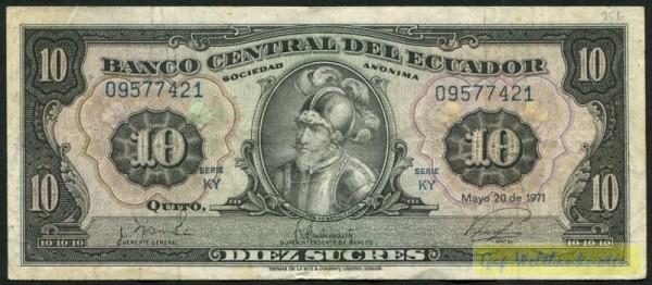 20.5.71, KY - (Sie sehen ein Musterbild, nicht die angebotene Banknote)