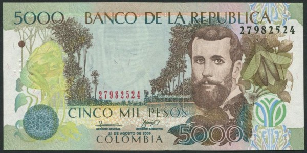 21.8.09 - (Sie sehen ein Musterbild, nicht die angebotene Banknote)