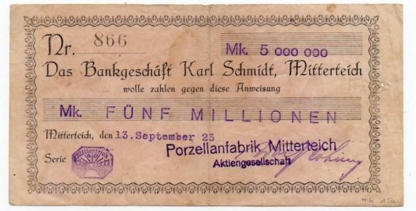 13.9.23 Datum n.i.K. - (Sie sehen ein Musterbild, nicht die angebotene Banknote)