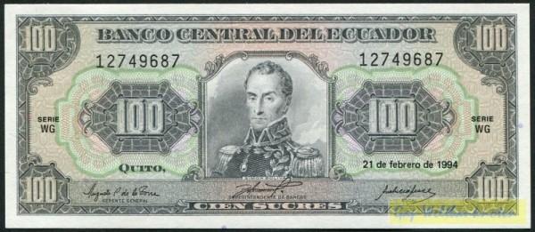 21.2.94, KN schwarz, WG - (Sie sehen ein Musterbild, nicht die angebotene Banknote)