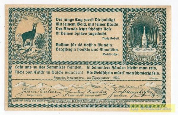 Dr. bds. grün, Bild grün - (Sie sehen ein Musterbild, nicht die angebotene Banknote)