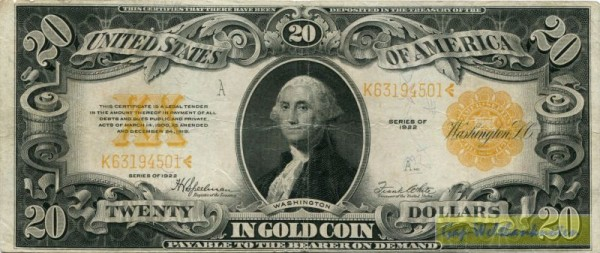 1922 - (Sie sehen ein Musterbild, nicht die angebotene Banknote)