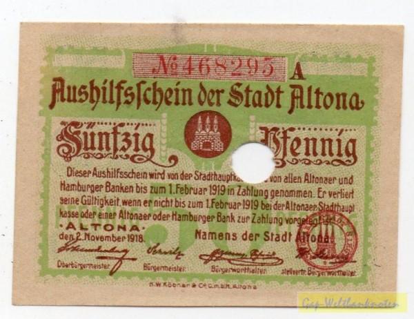 2.11.18, № KN 3,5 mm rot, entwertet - (Sie sehen ein Musterbild, nicht die angebotene Banknote)