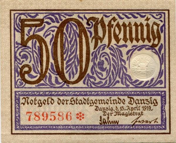 15.4.19, violett - (Sie sehen ein Musterbild, nicht die angebotene Banknote)