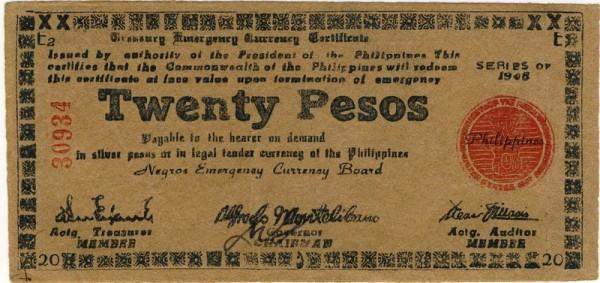 1945, E2 - (Sie sehen ein Musterbild, nicht die angebotene Banknote)
