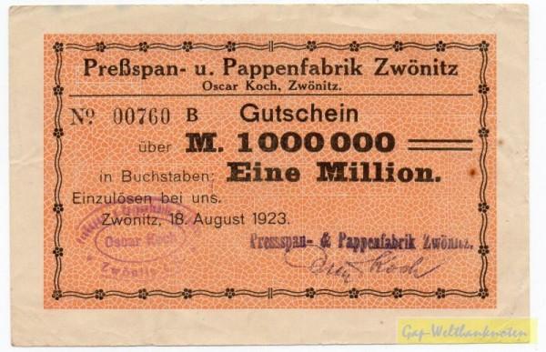 18.8.23, St zweizeilig, No KN - (Sie sehen ein Musterbild, nicht die angebotene Banknote)