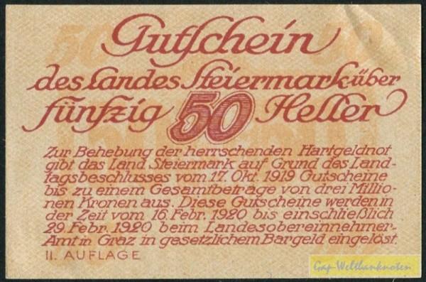 17.10.19, Udr. gelbbraun - (Sie sehen ein Musterbild, nicht die angebotene Banknote)