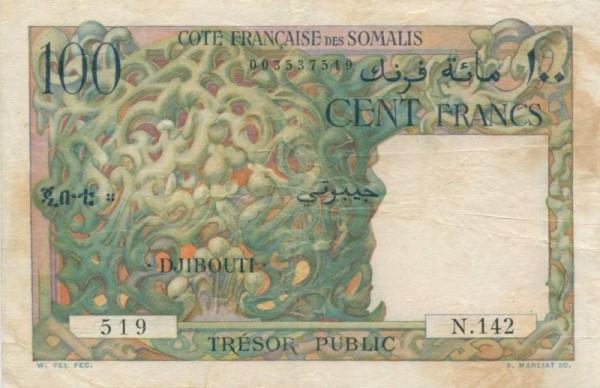 oD (1952), Fleck, s. III+ - (Sie sehen ein Musterbild, nicht die angebotene Banknote)