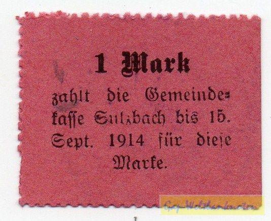 """oD, Karton rot, """"M"""" 4 mm - (Sie sehen ein Musterbild, nicht die angebotene Banknote)"""