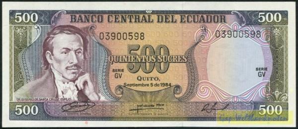 5.9.84, GV - (Sie sehen ein Musterbild, nicht die angebotene Banknote)