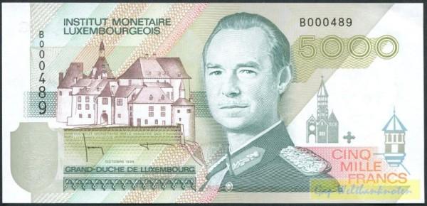 Okt. 1996 - (Sie sehen ein Musterbild, nicht die angebotene Banknote)