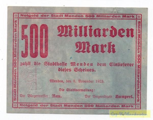 8.11.23, J, KN 4 mm - (Sie sehen ein Musterbild, nicht die angebotene Banknote)