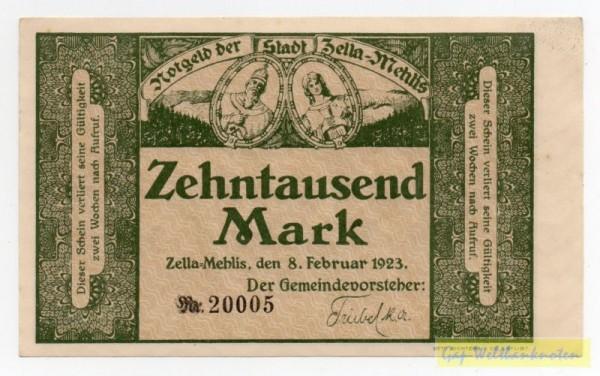 8.2.23 - (Sie sehen ein Musterbild, nicht die angebotene Banknote)