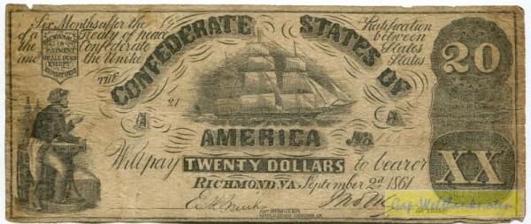 2.9.1861, Dfa. H&L - (Sie sehen ein Musterbild, nicht die angebotene Banknote)