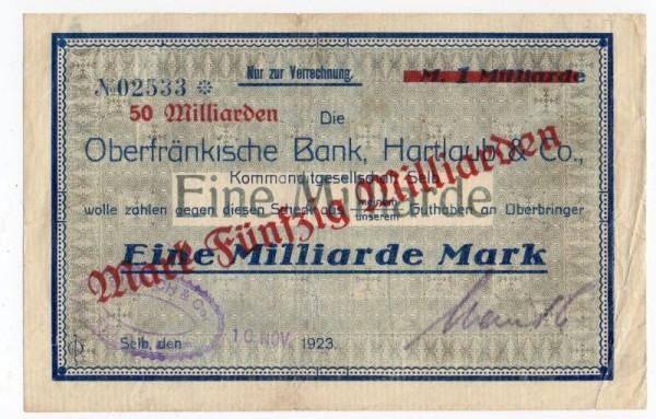 oD, Üdr. a. 1 Mrd. vom 10.11.23 - (Sie sehen ein Musterbild, nicht die angebotene Banknote)
