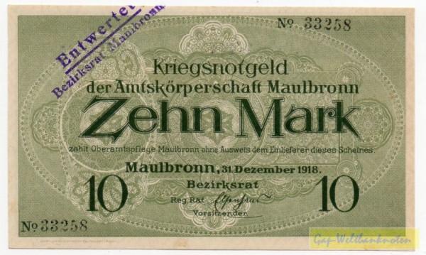 31.12.18, KN schwarz, entw. - (Sie sehen ein Musterbild, nicht die angebotene Banknote)