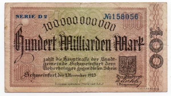 1.11.23, Serie D2 - (Sie sehen ein Musterbild, nicht die angebotene Banknote)