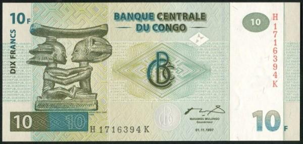 1.11.1997, Dfa. HdM - (Sie sehen ein Musterbild, nicht die angebotene Banknote)