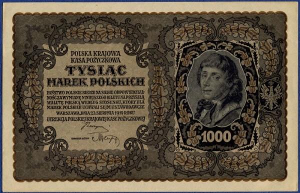 I Ser. XX - (Sie sehen ein Musterbild, nicht die angebotene Banknote)