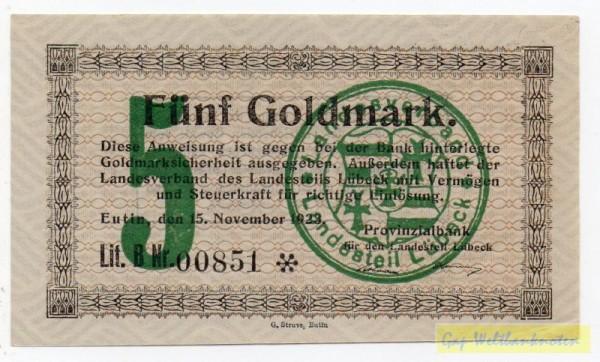 15.11.23, KN 6*l - (Sie sehen ein Musterbild, nicht die angebotene Banknote)