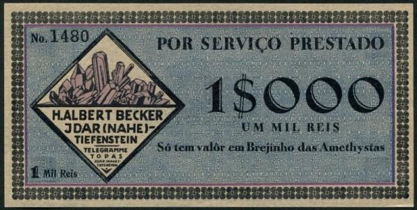 ca. 1920 - (Sie sehen ein Musterbild, nicht die angebotene Banknote)