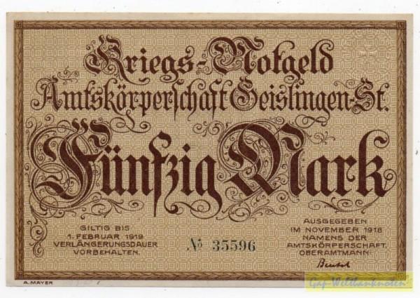 Nov. 18 - (Sie sehen ein Musterbild, nicht die angebotene Banknote)