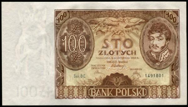 9.1.34, Ser. XX., Wz. ohne +X+ - (Sie sehen ein Musterbild, nicht die angebotene Banknote)