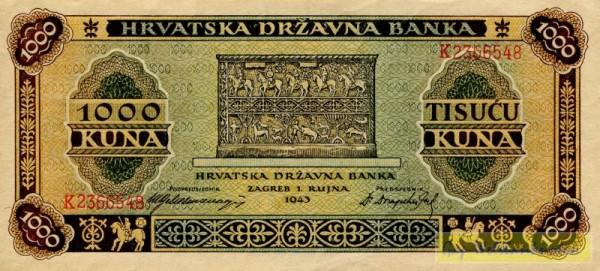 1.9.43 - (Sie sehen ein Musterbild, nicht die angebotene Banknote)