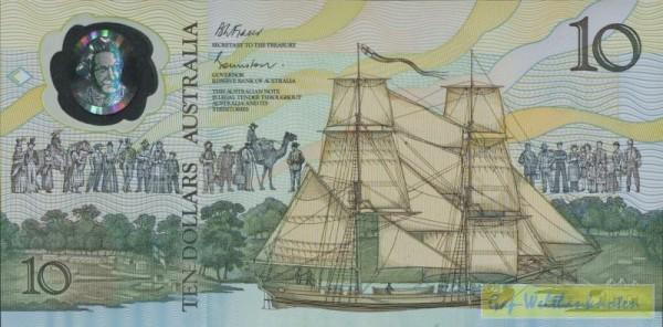 GA (Besiedlung) - (Sie sehen ein Musterbild, nicht die angebotene Banknote)