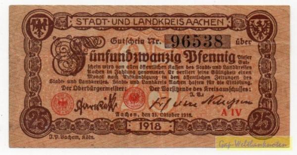 31.10.18, Pap grau, KN 5mm - (Sie sehen ein Musterbild, nicht die angebotene Banknote)