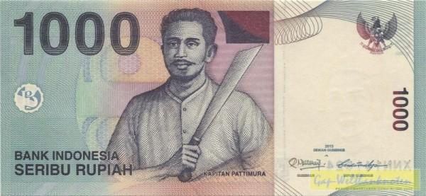 2013, Ersatznote - (Sie sehen ein Musterbild, nicht die angebotene Banknote)