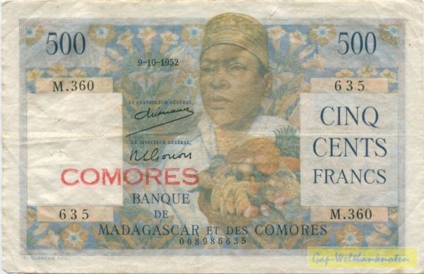 Us. 1, 1 cm Riss, s. III - (Sie sehen ein Musterbild, nicht die angebotene Banknote)