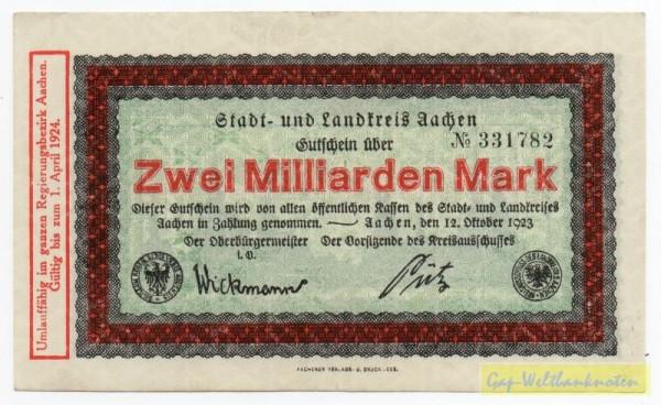 12.10.23, № KN 3,5 mm - (Sie sehen ein Musterbild, nicht die angebotene Banknote)