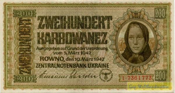 10.3.42, KN 7st. rot - (Sie sehen ein Musterbild, nicht die angebotene Banknote)